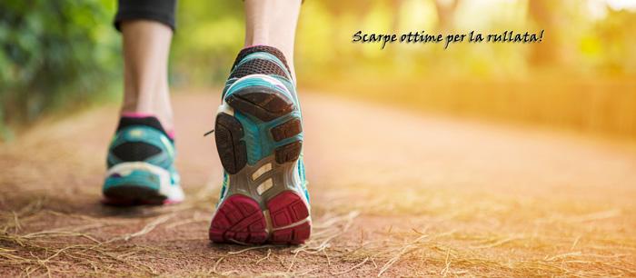 Scarpe senza tacco da rullata per Walking