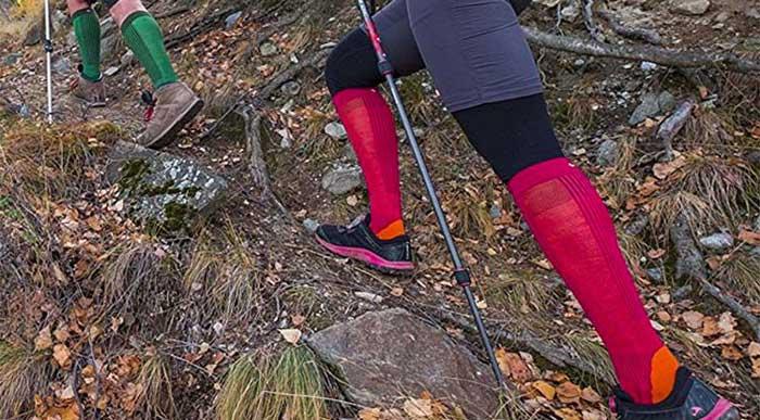 Calzettoni per fare trekking invernali