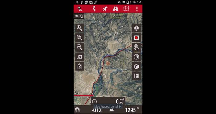 Oruxmaps app per il trtekking