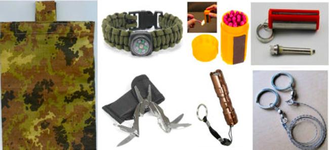 Kit Survival per la sopravvivenza in montagna