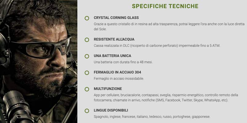 Caratteristiche di X Tactical Watch