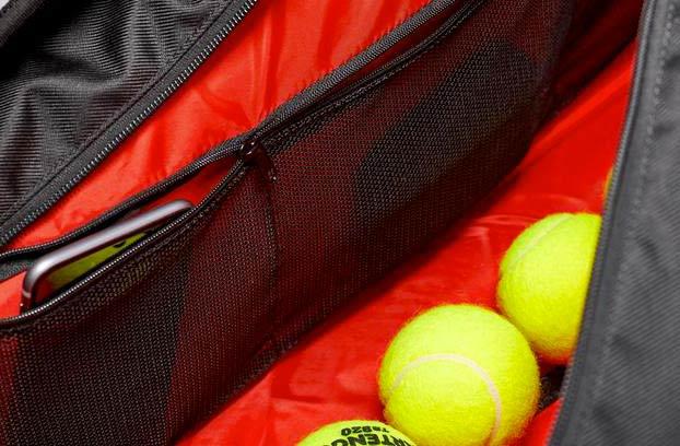 utilizzo della borsa da tennis