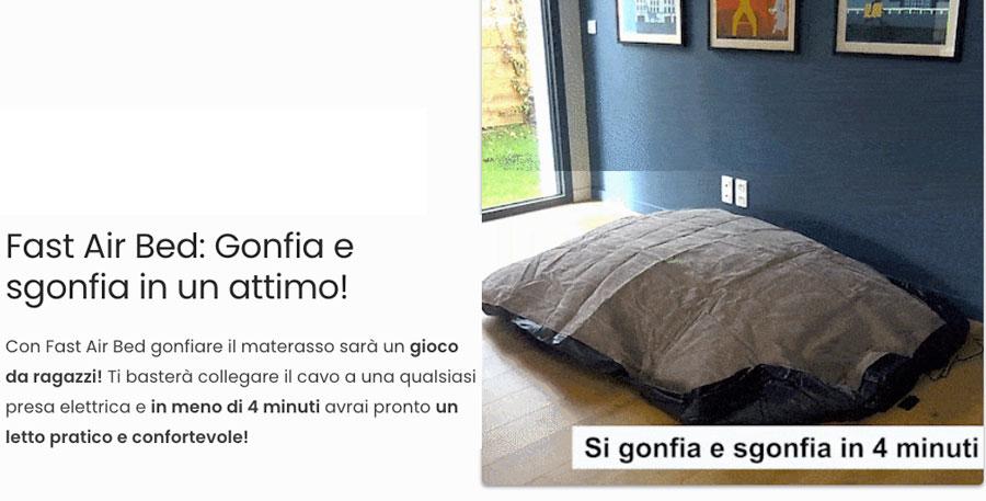 caratteristiche di Fast Air Bed